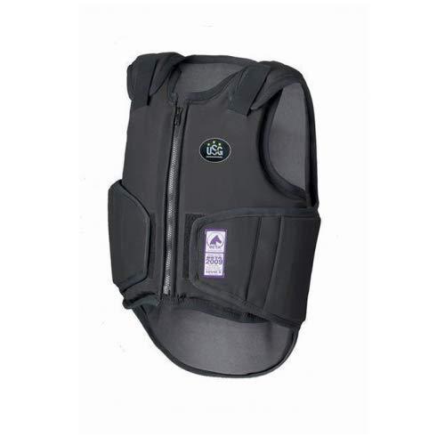 Equi Deluxe USG Sicherheitsweste Softshell Flexi Evolution   hochwertiges Softshell Material, verbesserte Beweglichkeit, Klettverschlüsse, Reißverschluss, Größe verstellbar, Level 3 (S)