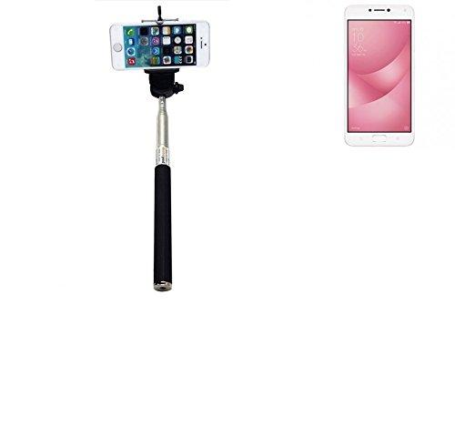 PerAsus ZenFone 4 Max 5.5 Zoll Bastone Selfie Selfiestick Asta Autoritratto telescopica Fotografico Monopiede Selfie Stick perAsus ZenFone 4 Max 5.5 Zoll nero - K-S-Trade(R)