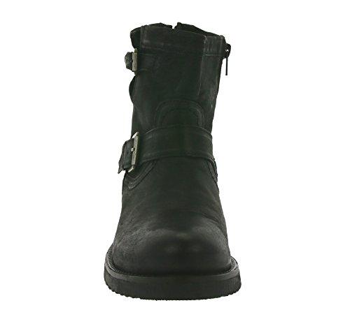 Buffalo robuster Kurzstiefel Lederschuhe Leder Boots 30509 schwarz brandy Schwarz (PRETO 06)