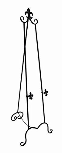 1651-cm-fleur-de-lis-design-metal-display-easel-finitura-nera