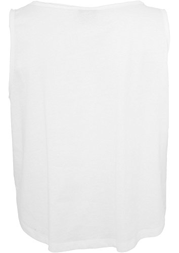 Urban Classics Ladies Open Edge Short Tee Black white