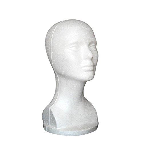 Kopf Modell Bovake Weibliches Styropor Hut Glas Haar Perücke Mannequin Ständer Display-Kopf-Modell (Weibliche Perücken)