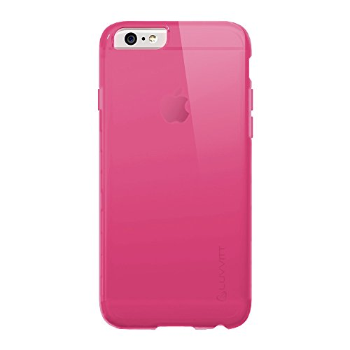 iPhone 6 Plus Case, luvvitt® Frost iPhone 6 Fall * * NEU * * 14 cm Bildschirm iPhone 6 Plus Schutzhülle – Soft Slim Transparent Gummi TPU Back Cover – Frosted Klar transparentes Pink