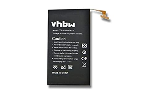 vhbw 1700mAh (3.7V) Smartphone, Mobile Phone Battery for HTC A620,