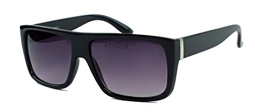 Old School Sonnenbrille Flat Top Retro Style schwarz