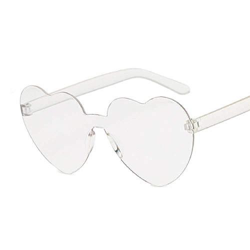 New Fashion Nette Sexy Retro Liebe Herz Randlose Sonnenbrille Frauen Luxusmarke Designer Sonnenbrille Weibliche Brillen Candy Farbe Libbey Mini