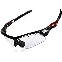DEKINMAX Gafas Ciclismo Protección UV Gafas de Sol Ligeras con Gafas Correa  para Deportes BTT Moto bfcc40a6a1d2