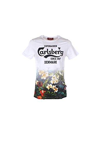 T-shirt Uomo Carlsberg M Bianco Cbu2606 1/7 Primavera Estate 2017