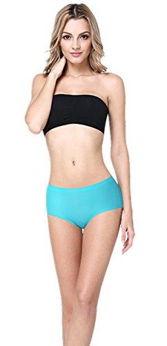 ZukuLife Damen Unterhosen Short Eisige Seide Slips Silber Antibakteriellen Medizinische Panties Blau