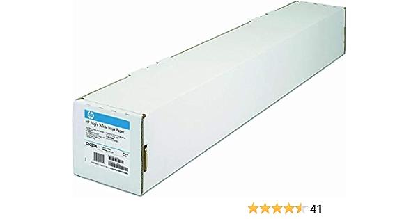 Hp C6035a Papier Helle Weiss Inkjet 90g M2 610 Mm X 45 7m 1 Rölle Pack Bürobedarf Schreibwaren