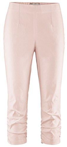 Stehmann Maria-530, stretchige Caprihose, seitlich gerafft Größe 42, Farbe soft rosé (Rosa Soft-capris)