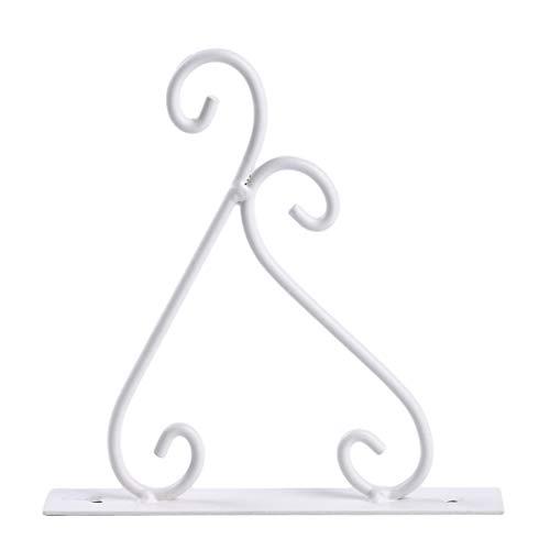 Sperrins 1 stücke Schmiedeeisen Wand Pflanze Rack Haken Europäischen Stil Leuchter Lampe Decor Weiß S -