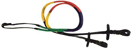 Reines Gummi (Gummizügel mehrfärbig bunt | Ausbildungszügel | Trainingszügel | Gummi Rainbow Rubber Reins)