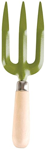 Esschert Design Handgabel, Gartengabel, grün, 8 x 3,4 x 26,5 cm