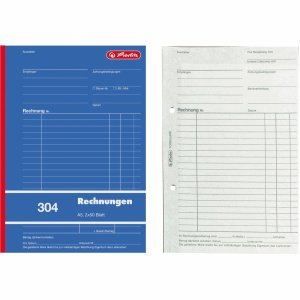 Herlitz 10 x Formularbuch Rechnung A5 304 2x50 Blatt
