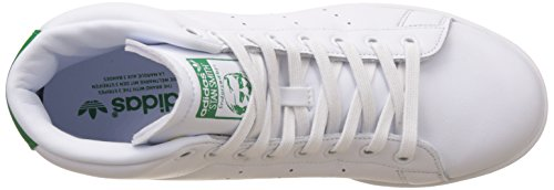 adidas Stan Smith Mid, Sneakers Basses Homme Blanc (Ftwwht/ftwwht/green)