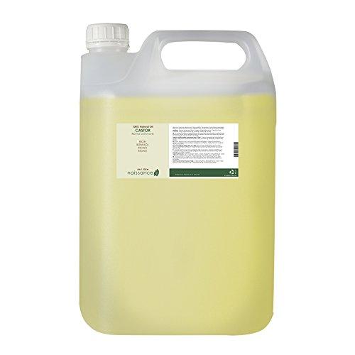 Naissance kaltgepresstes Rizinusöl 5 Liter (5000ml) - vegan, hexanfrei, gentechnikfrei