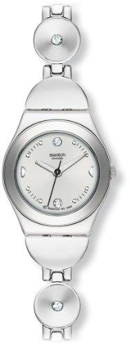 Swatch Irony Lady Deep Stones Yss 213G – Reloj de mujer de cuarzo, correa de acero inoxidable color plata