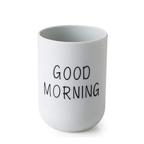 Hniunew Paar-Tasse Wasserbecher Badezimmer-Zahnputzbecher Einfache MundspüLbecher Cup Guten Morgen Trinkbecher | Partybecher | Plastikbecher ZahnbüRstenhalter, FüR ZahnbüRste Und Zahnpasta