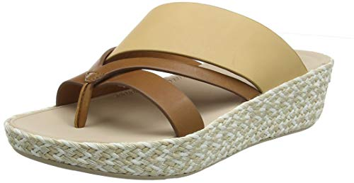FitFlop Damen Abstract Nora Strap Toe Post Sandalen, Braun (Light Tan/Blush 697), 42 EU -