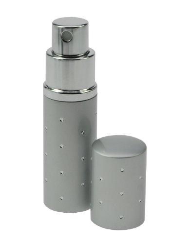 Fantasia 46163 Flacon vaporisateur de poche Détails argentés Argenté Hauteur 9 cm 10 ml