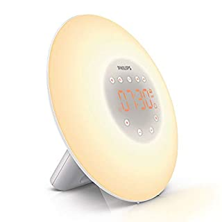 Philips Wake-Up Light Alarm Clock with Sunrise Simulation, 2 Natural Sounds and Radio - HF3505/01