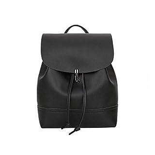 Fjl Fashion Vintage Pure Color Leather Simply School Bag Backpack Satchel Women's Travel Shoulder Bag mochila feminina HW,2