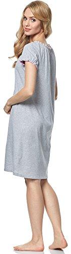 Italian Fashion IF Damen Stillnachthemd M002 Melange/Rosa