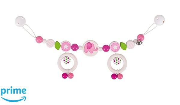 rosa Heimess 736850 Kinderwagenkette Herzb/är mit Clips