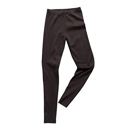 HERMKO 2720 Kinder Legging Unisex aus 100% Bio-Baumwolle für Mädchen und Knaben, Farbe:schwarz, Größe:140 -