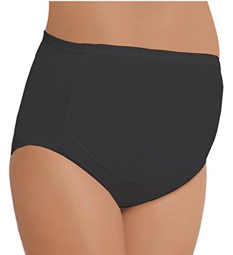 NBB Lingerie 3er Pack Schwangerschafts Slips Umstandskleidung Unterwäsche Unterhosen Ums tandsmode Baumwolle(L, 3xSchwarz)