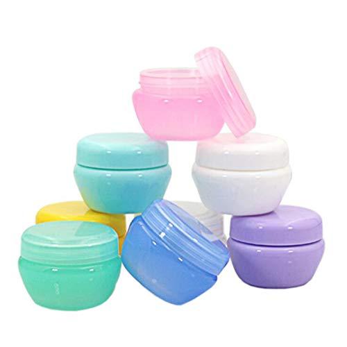 Amorar 10 Stück Gläser Kunststoff Leere Kosmetikbehälter Gläser Cremedose Leer Creme Lotion Box Salben Flasche Lebensmittel Flasche Make-up Topf Jar Mini Storage Container Dose mit Deckel Container