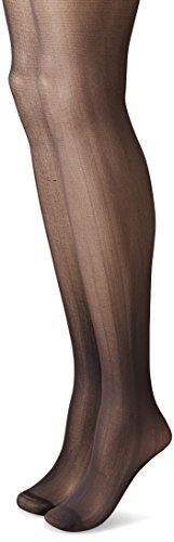 Betsey Johnson Women's Semi-Opaque Fashion Tights In Bold Solid Colors, Grey/Black, Small (Pack of 2) (2 Pack Solid Tights)