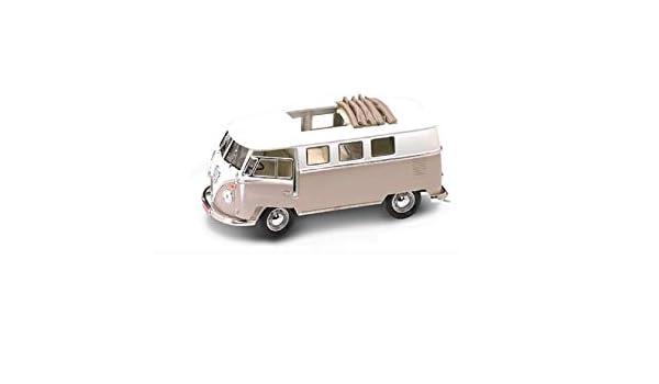 92327crm 1962 Volkswagen Microbus With Retractable Roof Cream 1:18 Model