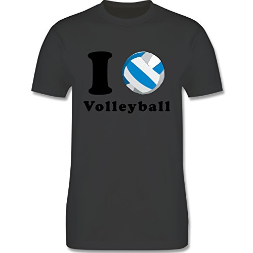 Volleyball - I Love Volleyball - Herren Premium T-Shirt Dunkelgrau