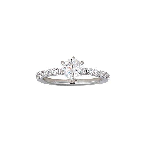 Xenox Damen Ring Solitaire 925 Sterling Silber Zirkonia weiß