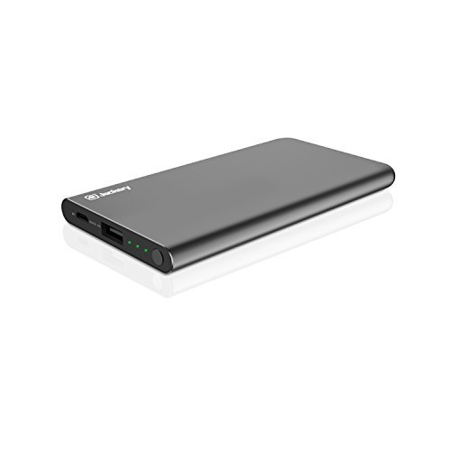 Jackery Pop Slim 5000mAh External Battery Charger - Portable Charger and Power Bank with Aluminum Shell Casing Designed for iPhone 7 6plus 6s 5s SE, Samsung Galaxy, Smart Phones Galaxy, Smart Phones