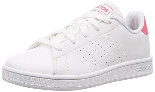 adidas Performance Advantage Sneaker Kinder weiß/pink, 3.5 UK - 36 EU - 4 US -