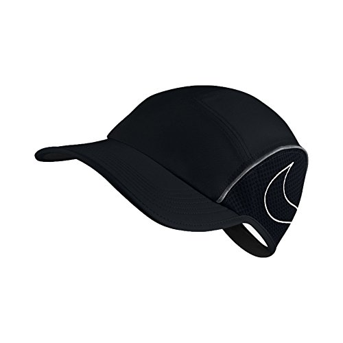 Nike Damen AeroBill AW84 Laufkappe, Black/Anthracite/White, One Size (54-59 cm)