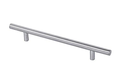 Gedotec Edelstahl Möbelgriffe 128 mm Relinggriff für Schubladen - ENJOY | Design-Griff Ø 10 mm | Edelstahl matt | BA 128 mm | Schrank-Griff Küche rund | 1 Stück - Schubladengriff für Schranktüren