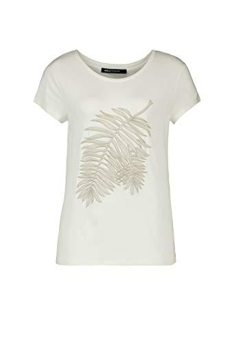 Expresso Fanny Damen gebrochen weißes oder schwarzes T-Shirt mit Stickerei und kurzem Arm (Stickerei Shirt)