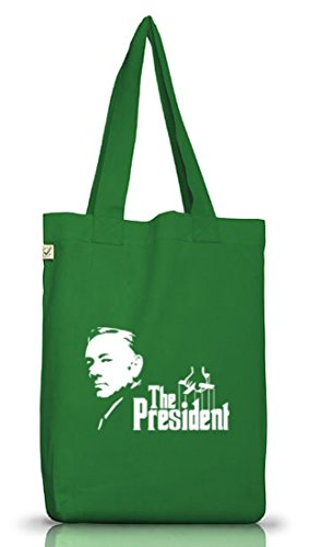 Shirtstreet24, HOC - The President, Jutebeutel Stoff Tasche Earth Positive (ONE SIZE) Moss Green