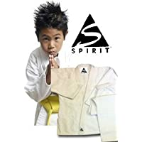 Karate 9oz 100% cotón Uniforme de Karate blanco (00/120cm)