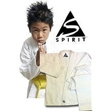 Karate 9oz 100% cotón Uniforme de Karate blanco (1/140cm)