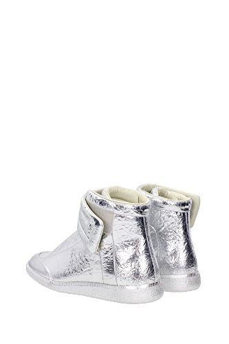 S37WS0262SX9809905 Martin Margiela Sneakers Homme Cuir Argent Argent