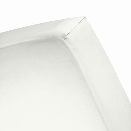 Cinderella Spannbetttuch Basic Baumwolle 180x220 Ivory(bis 35cm) -