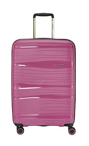 """Travelite Leichter, robuster und beweglicher Rollen-Reisekoffer Trolley """"Motion"""" mit Hartschalen in 4 Farben Koffer, 67 cm, 71 Liter, Bonbon"""