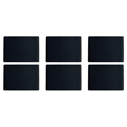 ASA Selection 7805420 'table top Lederoptik' Tischset, 46 x 33 cm, Kunststoff, schwarz (6 Stück)