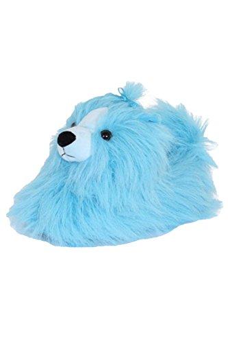 Pantuflas para mujer en 3D diseño de animal, color azul, talla 38/39 EU