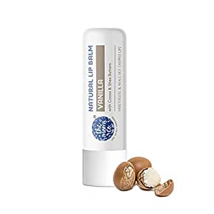 The Moms Co. Natural Lip Balm I Non Sticky I Protects & Nourishes Dry Chapped Lips I Shea & Cocoa Butter( 5gm) (Vanilla)